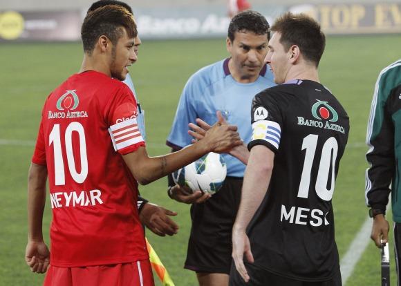 Neymar y Messi se enfrentaron en Perú.