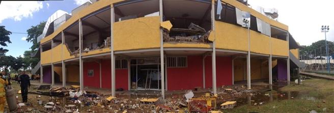 Grandes daños presentó la estructura.