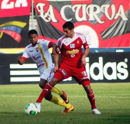 Roberto Armúa marcó uno de los tantos de la victoria del rojo ante Aragua.