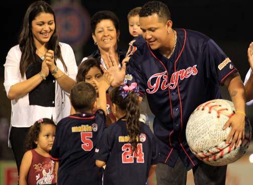 Miguel Cabrera es un ídolo en todo el país y máximo representante de los Tigres de Aragua.