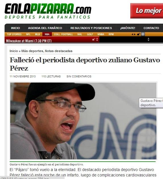 Enlapizarra.com portal del que formó parte desde su fundación como columnista.