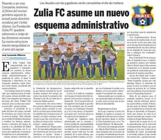 Captura de la edición digital del diario Versión Final de este jueves.
