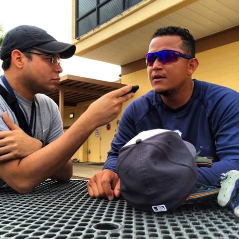 Miguel Cabrera conversó con Enlapizarra.com en Lakeland. Fotos: Luis Párraga