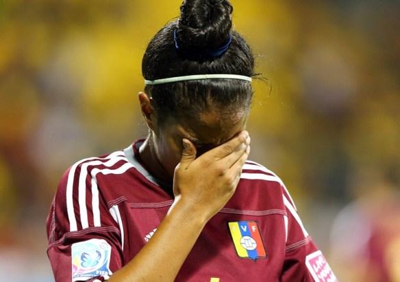 Las venezolanas lamentaron la derrota.
