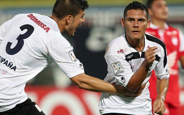 Pedro Ramírez celebró el primer gol de Zamora en Libertadores. Foto: Líder