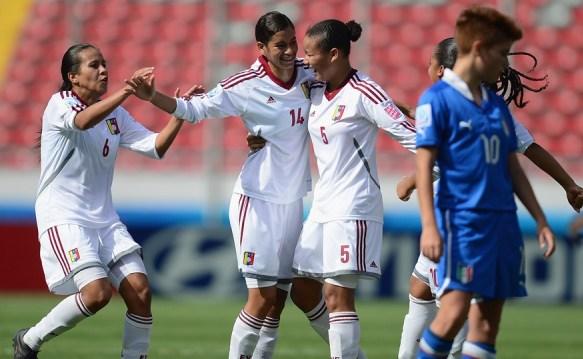 Las venezolanas se cayeron a goles con las italianas. Foto: Fifa.com
