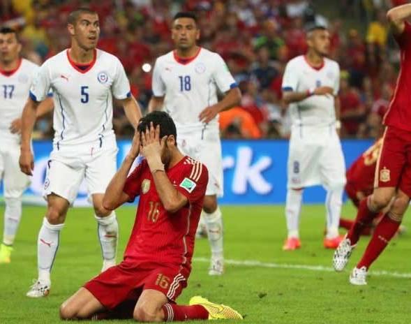 España se despidió ante los chilenos.