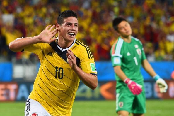 Rodriguez sentenció la faena colombia camino al Maracaná en octavos.