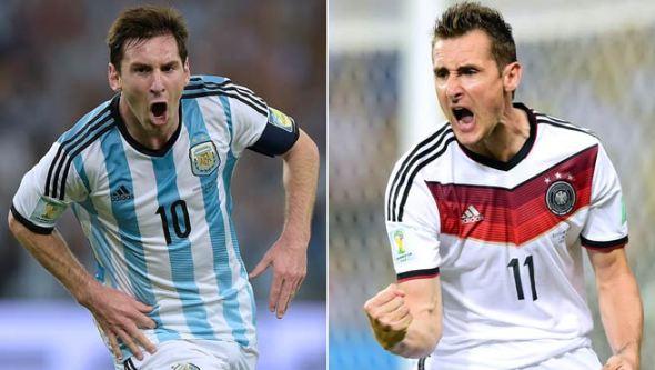 Messi y Klose son las figuras goleadoras.