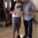 Greivis Vásquez y Carlos Zambrano se reunieron en Miami.