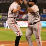 Pence y Sandoval guiaron a los Gigantes.