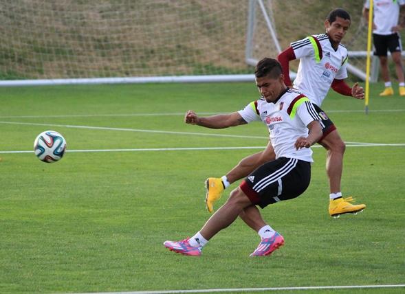 La selección vinotinto entrena a doble turno en Madrid. Foto: FVF