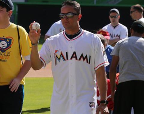 Martín Prado está contento por el plantel que tienen los Marlins.