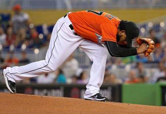 Henderson Álvarez perdió en sus primeras dos salidas. Foto: Zimbio.com